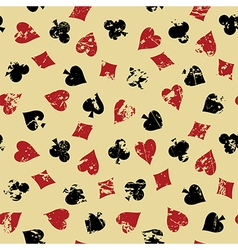 Background with suits of playing cards vector