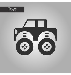 Black and white style toy car vector