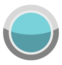 Blue round button icon cartoon style vector