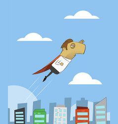 cartoon businessman flying vector image