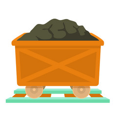 Coal icon cartoon style vector