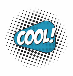 cool comic book sound effect speech bubble in pop vector image