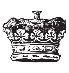 Duke is a coronet vintage engraving vector