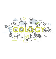 Ecology lifestyle green energy recycle vector