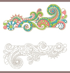 frame doodle vector image vector image