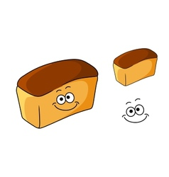 Fresh happy loaf of white bread vector image