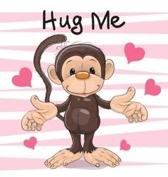 Hug me monkey vector
