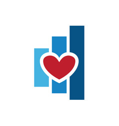 love chart finance logo vector image