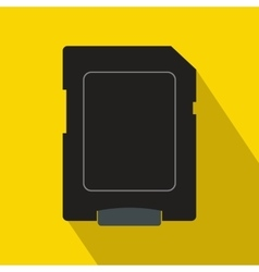 Micro sd card icon flat style vector