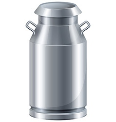 Milk in tank vector