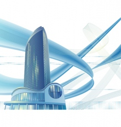 modern city building vector image vector image