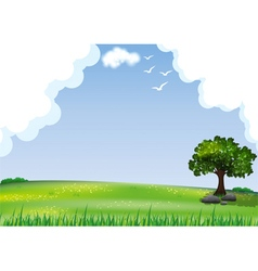 Natural landscape background vector