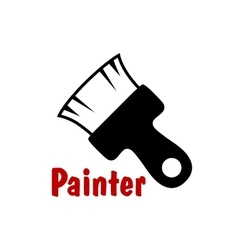 Paintbrush icon with short bristle vector