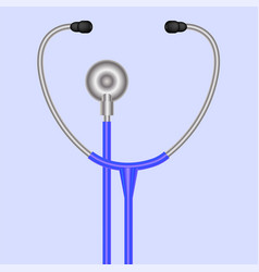 stethoscope symbol medical acoustic instrument vector image vector image