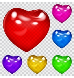 Transparent hearts vector image vector image