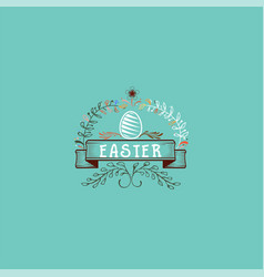 typographic badges - happy easter on the basis of vector image