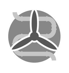 ventilation minimal symbol vector image vector image