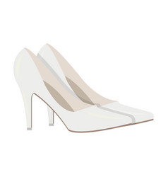 white shoes with heels for the bride clothes of vector image vector image