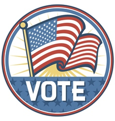 United States of America Elections pins badge vector image