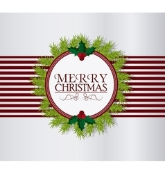 Merry christmas label design vector