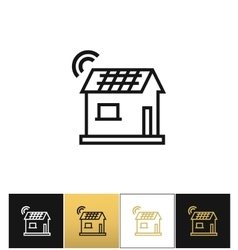 Smart home icon vector