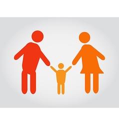 Happy family icons symbols vector