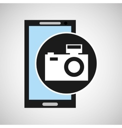 Smartphone camera flash social media vector
