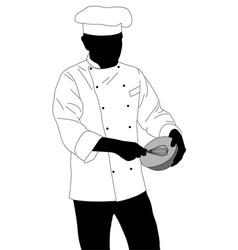 Chef preparing food vector