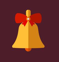 Retro decorative christmas bell vector