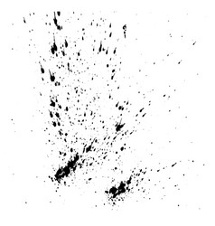 Design template ink splashes elements ink spray vector