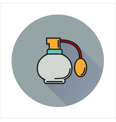 Perfume simple icon on circle background vector