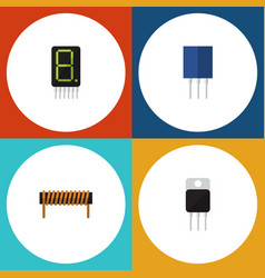 Flat icon appliance set of display receiver vector