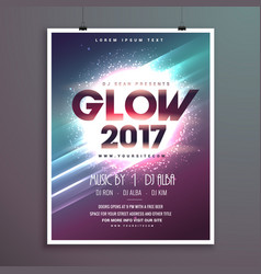 2017 new year party flyer brochure template with vector image