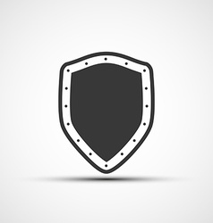 Icon metal shield vector