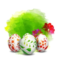 Easter eggs watercolor paints vector
