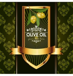 Luxury golden decorative design with olive vector