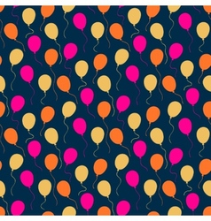 Holiday pattern with balloons vector