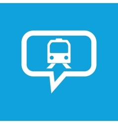 Train message icon vector