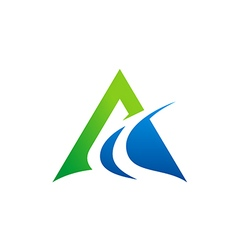 Abstract triangle business finance logo vector