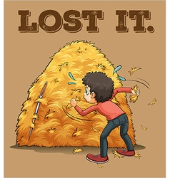 English saying lost it vector