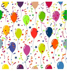 Bright holiday background with balloons and vector