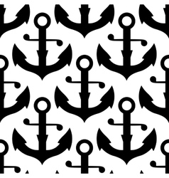 Seamless pattern of sea ship anchors vector