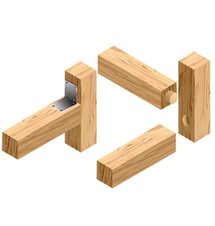 joinery connections1 vector image
