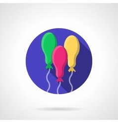Colored oval balloons round flat icon vector
