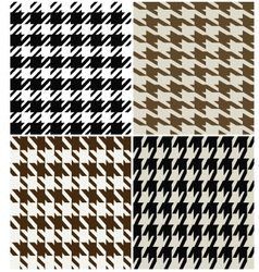 Fashion abstract hounds tooth pattern vector