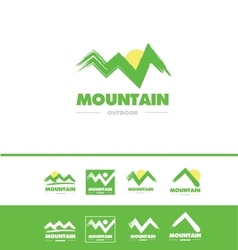 Grunge mountain logo icon vector