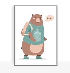 Quote bear vector