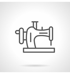 Household sewing equipment black line icon vector