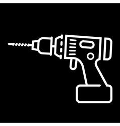 Cordless drill icon vector