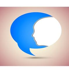 Face inside bubble speech vector image